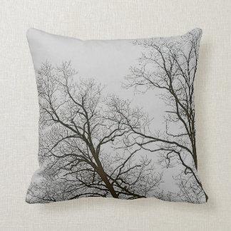 Bloße Bäume u. graue Himmel-Natur-Kunst Kissen