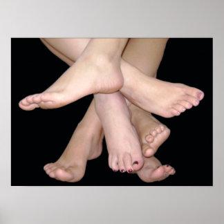 Bloße Füße Kunst- Poster