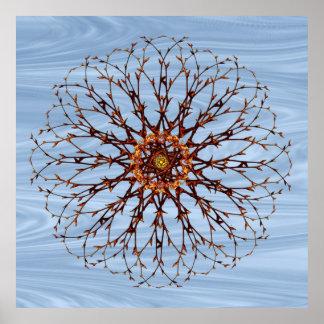 Bloßer Baum-und Himmel-Mandala-Plakat-Druck Poster