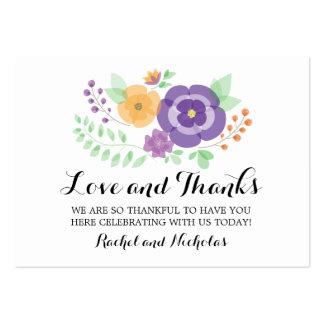 Bloßer Bevorzugungs-Umbau der Sommer-Blumen-| Mini-Visitenkarten