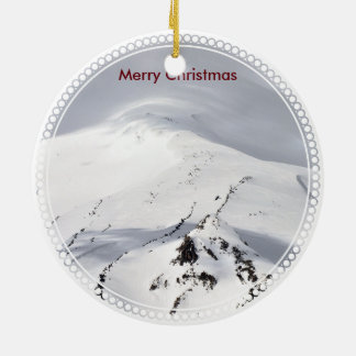 Blow'n Schnee auf Weihnachtshügel Keramik Ornament