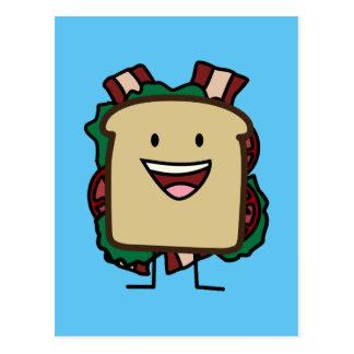 BLT Sandwich-Speck-Kopfsalat-und Postkarte
