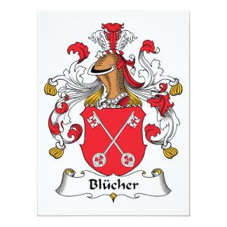 Blucher-Familienwappen 16,5 X 22,2 Cm Einladungskarte