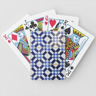 Blue and Whiter Kachel Spielkarten