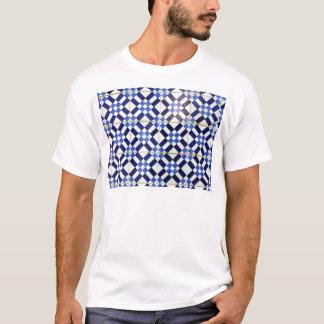 Blue and Whiter Kachel T-Shirt
