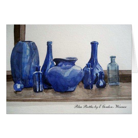 Blue Bottles Greeting Card Karte