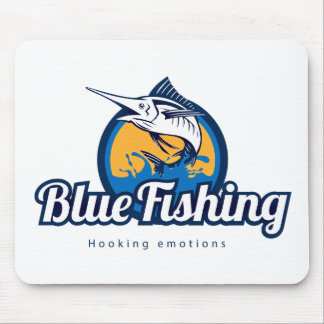 Blue Fishing Products Mousepad