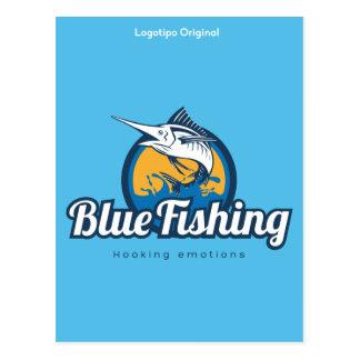 Blue Fishing Products Postkarte