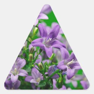 blue flower dreieckiger aufkleber