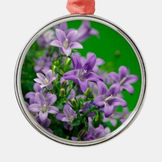 blue flower silbernes ornament