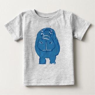 blue hippo baby t-shirt