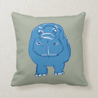 blue hippo zierkissen