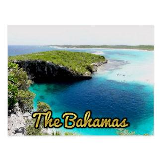 Blue Hole Bahamas-Dekans Postkarte