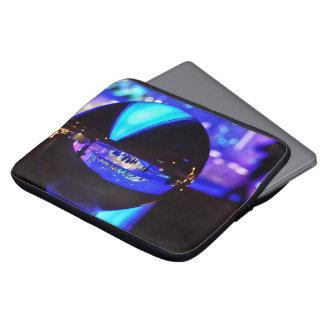 Blue hour through the crystal ball laptop sleeve
