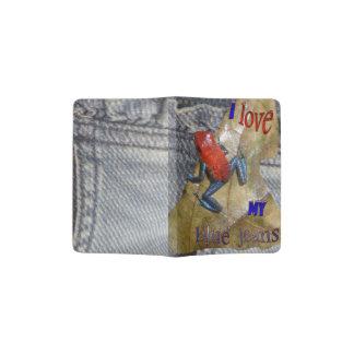 Blue Jeans-Frosch-Pass-Halter Passhülle