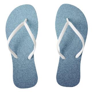 Blue Jeansbeschaffenheit Flip Flops