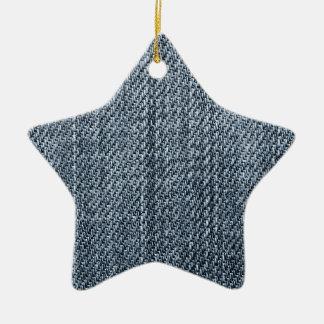 Blue Jeansbeschaffenheit Keramik Stern-Ornament