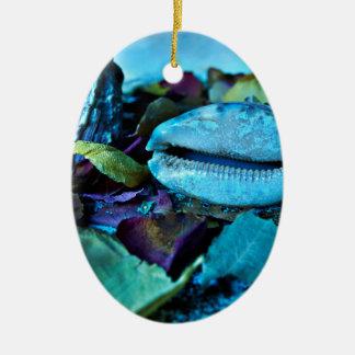 Blue Maritime Symphony of Seashell Keramik Ornament