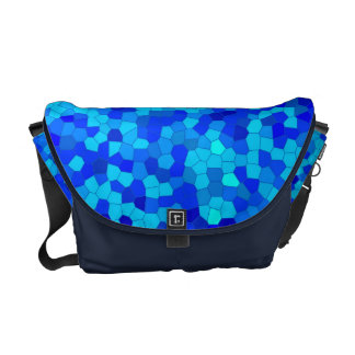 blue mosaic - Kuriertasche medium