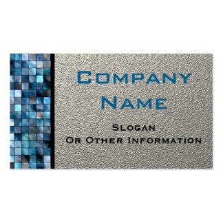 Blue Mosaic Tiles Business Cards Visitenkarten