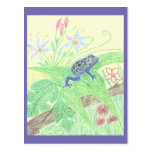Blue poison dart frog postkarten