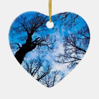 BLUE POWER OF TREE KERAMIK Herz-Ornament