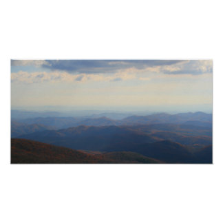 Blue Ridge Mountains im Fall, North Carolina Poster