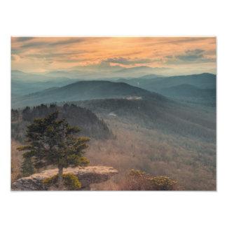 Blue Ridge Mountains-Sonnenuntergang Fotodruck