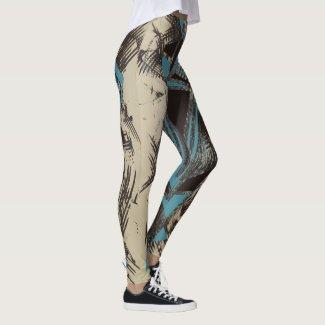 Blue Shard Leggings