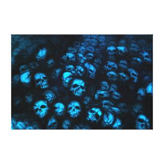 Blue Skulls Leinwand