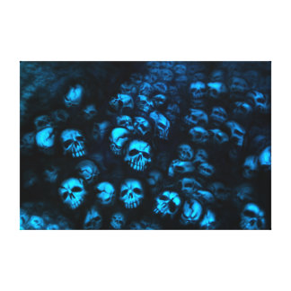 Blue Skulls Leinwand Leinwand Drucke
