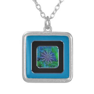 Blue Square Halskette Mit Quadratischem Anhänger