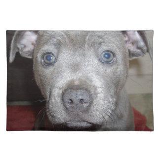 Blue_Staffordshire_Bull_Terrier, _Puppy, Stofftischset