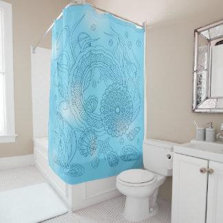 blue world underwater duschvorhang