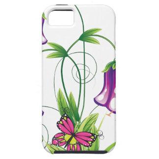Bluebell-Blume mit Blätter Hülle Fürs iPhone 5