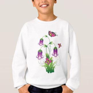 Bluebell-Blume mit Blätter Sweatshirt