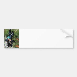 Bluebell-Blumen-Elf 18x15 Autoaufkleber