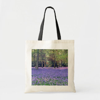 Bluebell-Holz, England-Blumen Tragetasche
