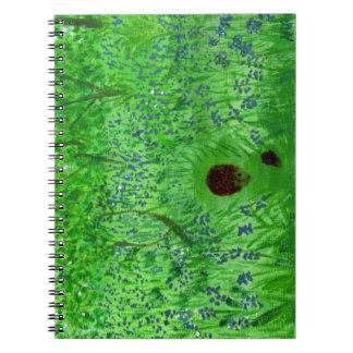 Bluebell-Holz-Igel Spiral Notizblock