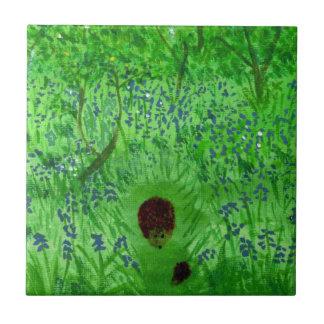 Bluebell-hölzerne Igels-Kunst Fliese