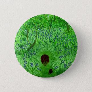 Bluebell-hölzerne Igels-Kunst Runder Button 5,7 Cm
