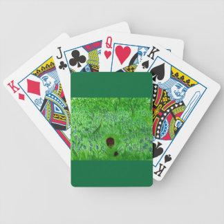 Bluebell-hölzernes Igels-Malen Bicycle Spielkarten