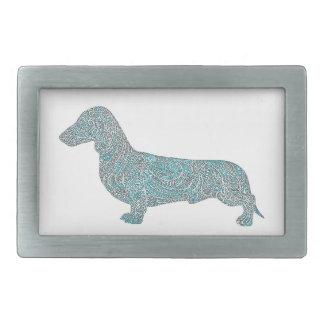 bluedashhound rechteckige gürtelschnalle