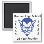 BlueDevil, CLASS, 1983, Highschool Bremens, 25… Quadratischer Magnet