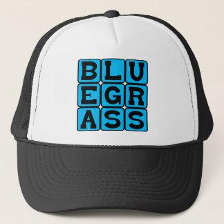 Bluegrass, Amerikaner wurzelt Musik-Genre Truckerkappe
