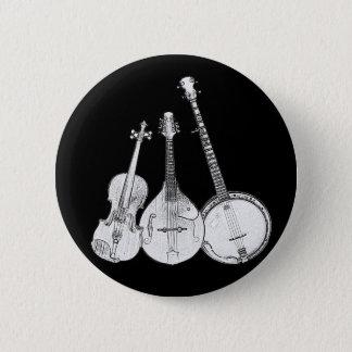 Bluegrass-Band B&W Runder Button 5,7 Cm