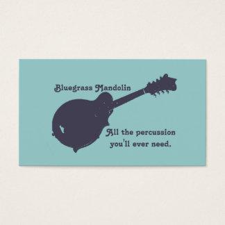 Bluegrass-Mandoline - das ganzes Schlagzeug, das Visitenkarte