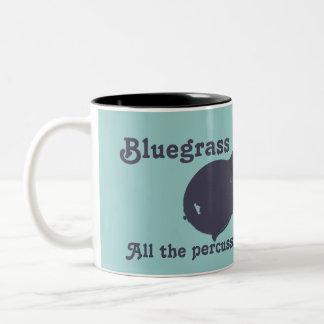 Bluegrass-Mandoline - das ganzes Schlagzeug, das Zweifarbige Tasse