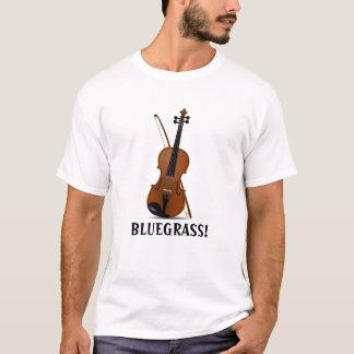 BLUEGRASS Musik-Violinen-Geige und Bogen T-Shirt
