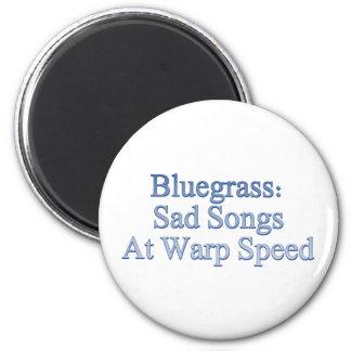 Bluegrass: Traurige Lieder mit Verzerrungs-Geschwi Runder Magnet 5,1 Cm
